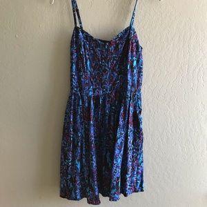 Blue Express button front cami dress